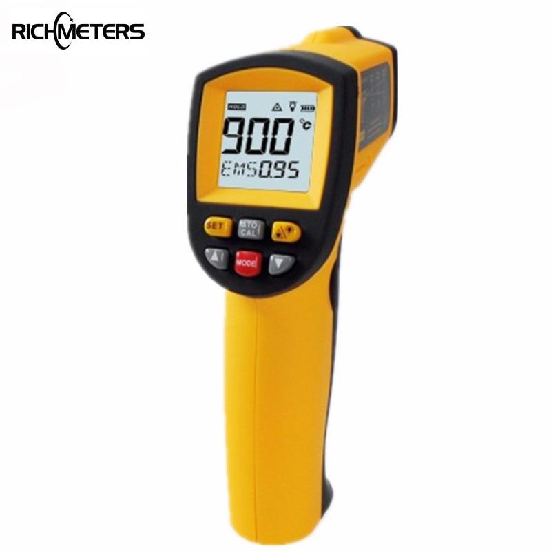 GM900 Бесконтактный цифровой инфракрасный термометр пирометр-50 ~ 900 C Аквариум лазерный термометр ИК Температура пистолет