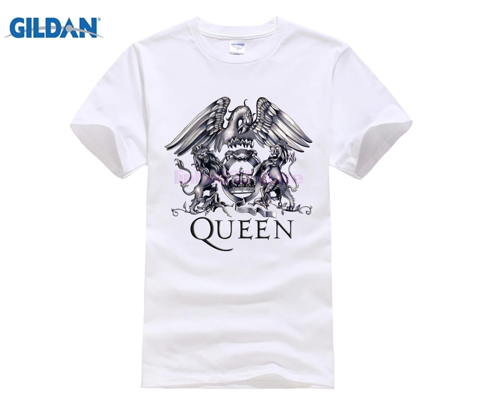 955c988e011 QUEEN Rock Band T shirt Homme Cotton 3D Print Freddie Mercury Shirt O-neck  Short