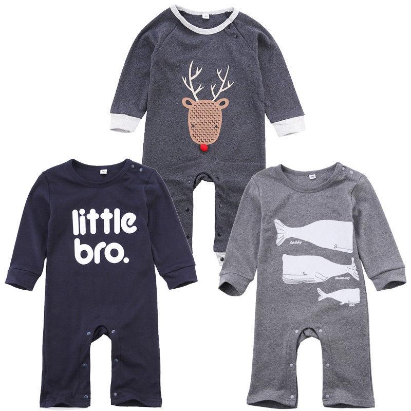 0-18 Mt Neugeborenen Jungen Kleidung Infant Kleinkind Kinder Kleine Bro Langarm Baumwollspielanzug Attraktiv Und Langlebig