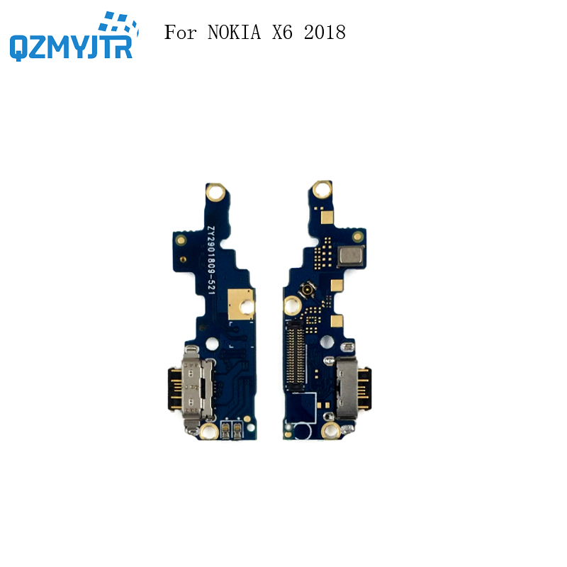 High Quality For Nokia X6 2018 6.1 PLUS TA-1099 USB Charging Port Board Plug Flex Cable Connector Micro Microphone Module Parts