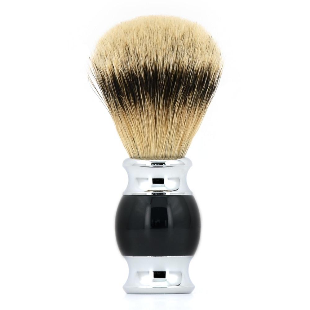 ZY Silvertip Badger Hair Shaving Soap Brush Men Shave Beard Razor Brushes Barber Face Cleaning Tool 2pc set stainless steel man shaving safety razor and badger beard shave brush