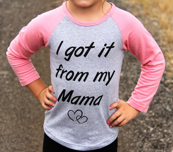 New Mother and Daughter Long Sleeve Cute Letter Print T-shirt Casual Women Toddler Kids Girls T-shirt Tops Family Match Clothes