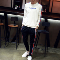 2017 Brand Mens Sports Suits Exercise Two Pieces Sets Teenagers Student Sportswear Youth Cotton Pants Sweatshirts