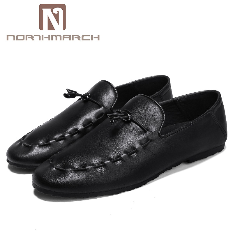 NORTHMARCH Mens Casual Shoes Hot Sale Leather Men Shoes Soft Moccasins Loafers Fashion Brand Men Flats Comfy Driving Shoes surgut brand new colors cow split leather men flat shoes brand moccasins men loafers driving shoes fashion casual shoes hot sell