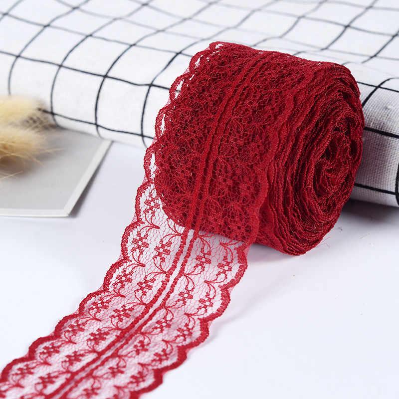 5 metros 4.5 cm laço fita fita guarnição tecido diy bordado cabo líquido para costura decoração africano tecido de renda feitos à mão materiais