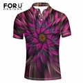 FORUDESIGNS Polo Shirt High Quality Fashion Floral Printing Men 2017 Short Sleeve Turn-down Collar Polo Hombre Men Casual Polos