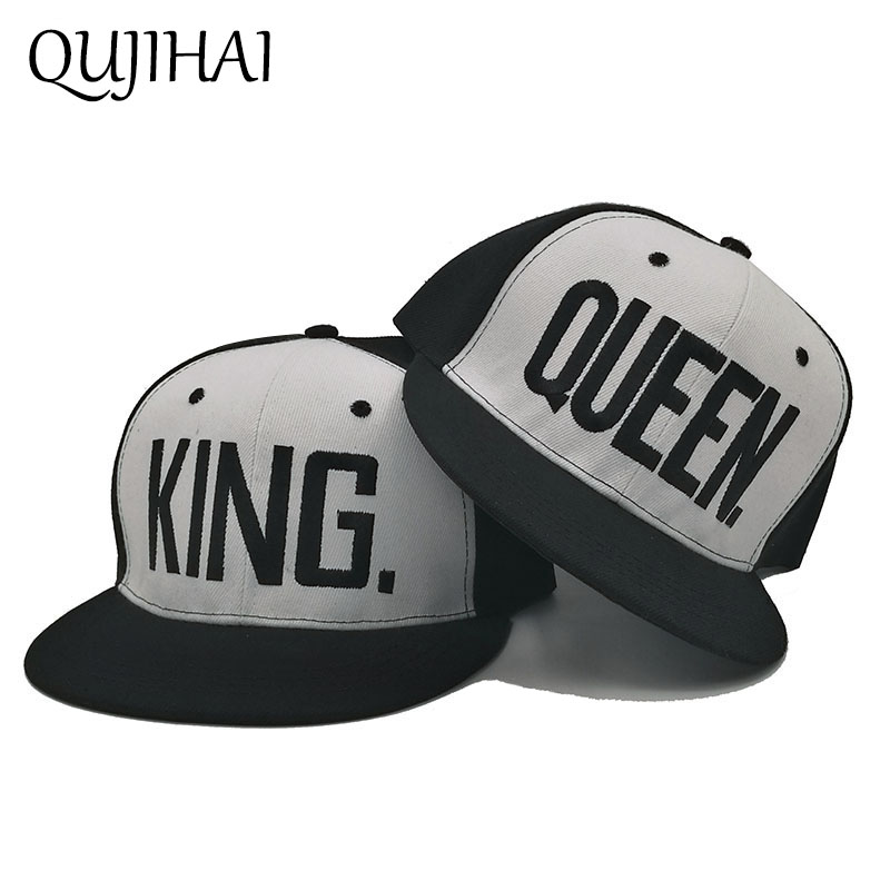 KING QUEEN Couple Baseball Cap Snapback Hat Men Women Lovers Gifts For Girl  Boy Friends Hip Hip Cap Last Kings Casquette Bone 632fe03187d7