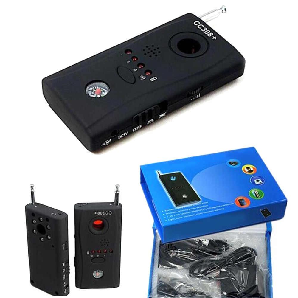 Мини Полный диапазон Анти-шпион обнаружитель подслушивающих устройств CC308 мини-беспроводная камера скрытый сигнал GSM искатель устройств защита конфиденциальности безопасности
