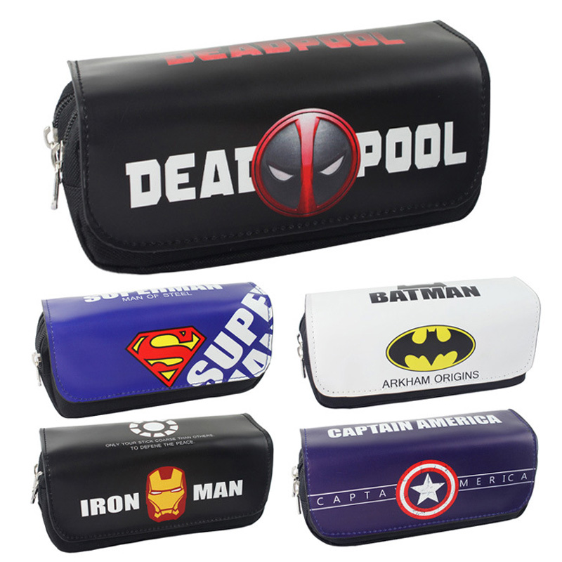 Box Purse-Bag Pencil-Case Cosmetic Comics Makeup-Change Deadpool Iron-Man Teenager Batman