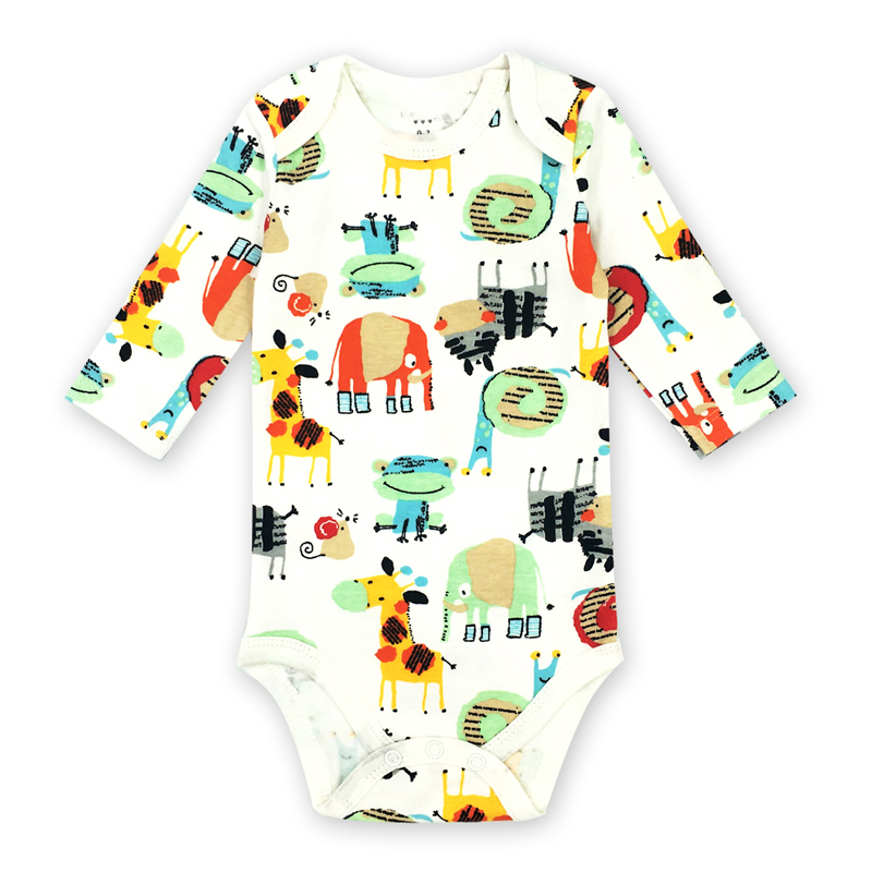 0 2 Year Baby Clothes Girls O neck Baby Romper daughter Vestido Infantil Newborn boys Girl Long Sleeve Cartoon picture print in Rompers from Mother Kids