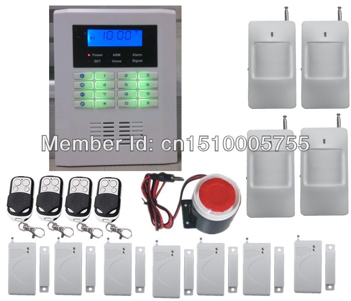 Intelligent SMS GSM850/900/1800/1900Mhz 99 wireless zones home security PSTN GSM alarm system with PIR sensor,door sensor free shipping 101 zone 99 wireless zone and 2 wired quad band lcd home security pstn gsm alarm system 850 900 1800 1900mhz