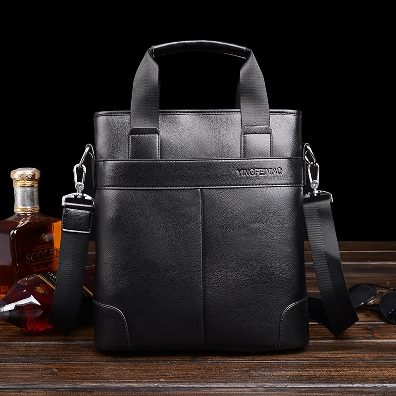 Famous Brand Leather Men Bags Fashion Male Messenger Business Bags Mens Small Briefcase Man Casual Crossbody Shoulder Handbag