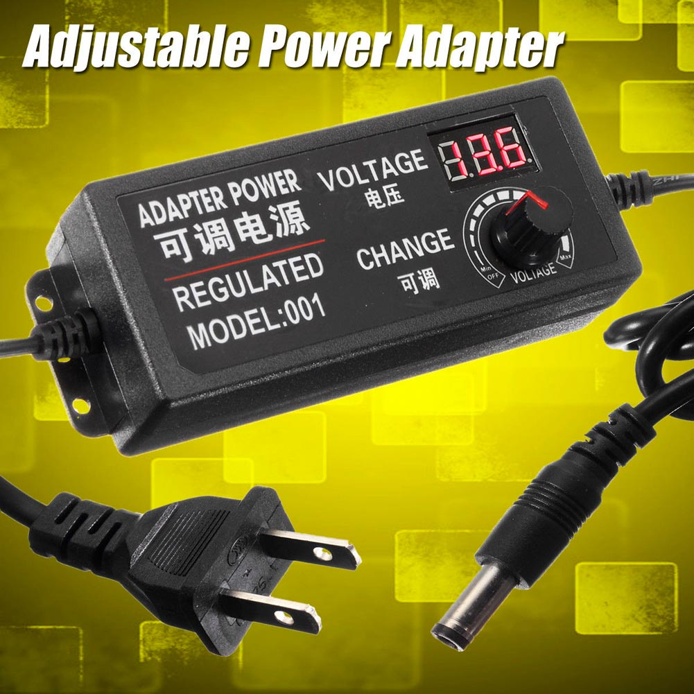 AC/DC Supply 9-24V 3A 72W Adjustable Power Adapter Speed Control Volt Display ALI88 ac dc adjustable power supply adapter 3 12v 5a voltage display speed control us plug ali88