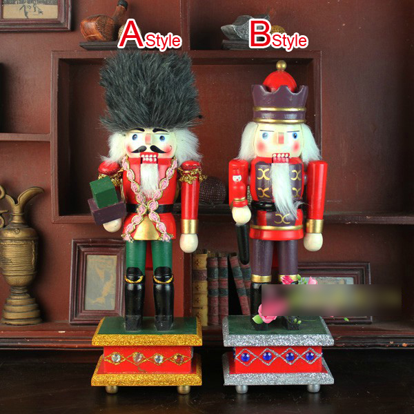 HT076 Free shipping Movable doll puppets 31cm high quality large mats Nutcracker puppet soldiers children Christmas gift ht025 free shipping movable doll puppets 13cm hardcover box painted walnut wooden nutcracker children christmas toy 2pcs lot