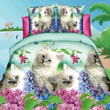 Home Textiles 3D Bedding Set Europe and America Comfy New Design Soft Animal Printing Duvet Pillowcase Bed