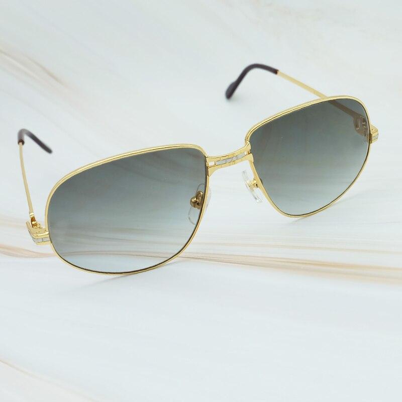 Lunettes de soleil de luxe pour hommes en métal marque Designer Carter lunettes 2018 Vintage lunettes de soleil hommes cadre surdimensionné lunettes de soleil de haute qualité