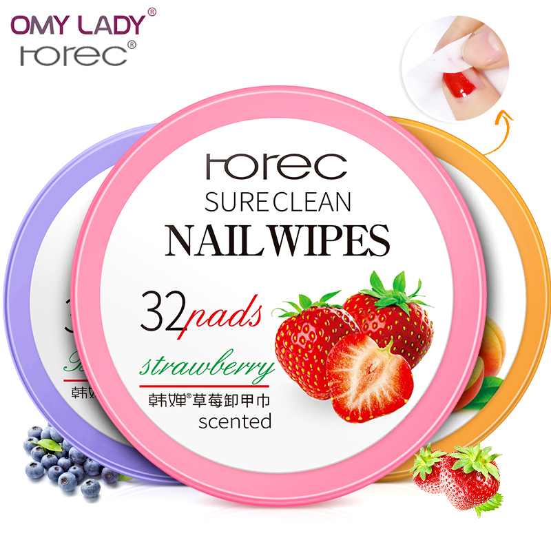 OMY LADY HANCHAN natural essence nail remover wipes nail remover deep cleaning remaining nail art remover tool