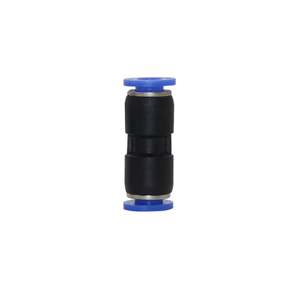 5 Pcs 6mm PU Hose Plastic Butt Quick Straight Connectors Pneumatic Pipe Fittings Home Garden Irrigation System Accessories