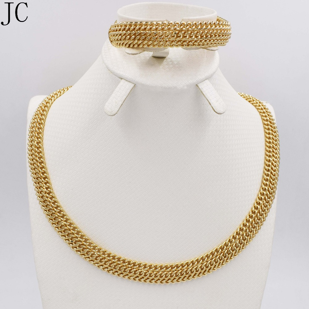 Bridal classics necklace sets mj 259 - Jewelry Sets For Women Gold Color African Beads Jewelry Set Party Accessories Necklace Earrings Set Wholesale