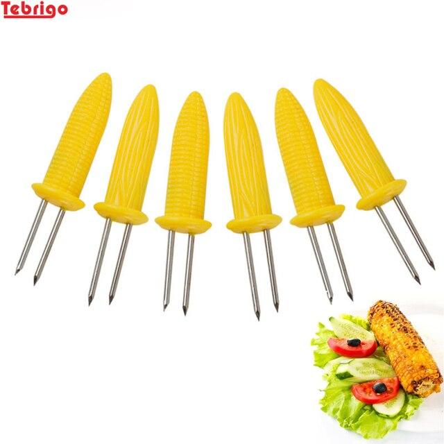 Tebrigo 6 pz/set Barbecue Utensili per cuocere il mais Forchetta Multi-Funzione