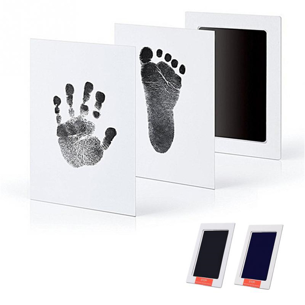 Taoqueen Baby Handprint Footprint Photo Frame Kit With An Included Clean-Touch Ink Pad  Hand & Footprint Makers  Baby Souvenirs