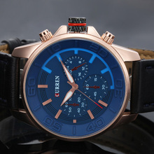 Casual Military Leather Wrist Watch