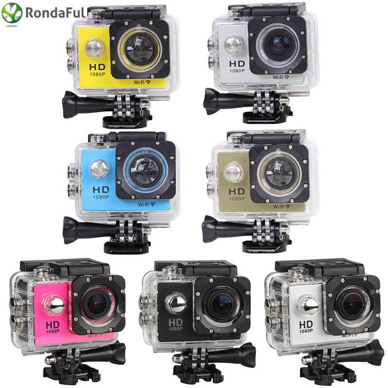 W9C SJ4000 WiFi Action Camera Full HD 1080P Sport Camera Waterproof Sport DV for Extreme Sports Diving Car DVR original sjcam wifi version sj4000 wifi 1080p full hd gopro camera style extreme sport dv action camera diving 30m waterproof