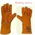2016 Новый Холст МИГ TIG сварочные перчатки сварочные перчатки носить дышащий изоляции носить нескользящей рабочие перчатки бесплатная доставка