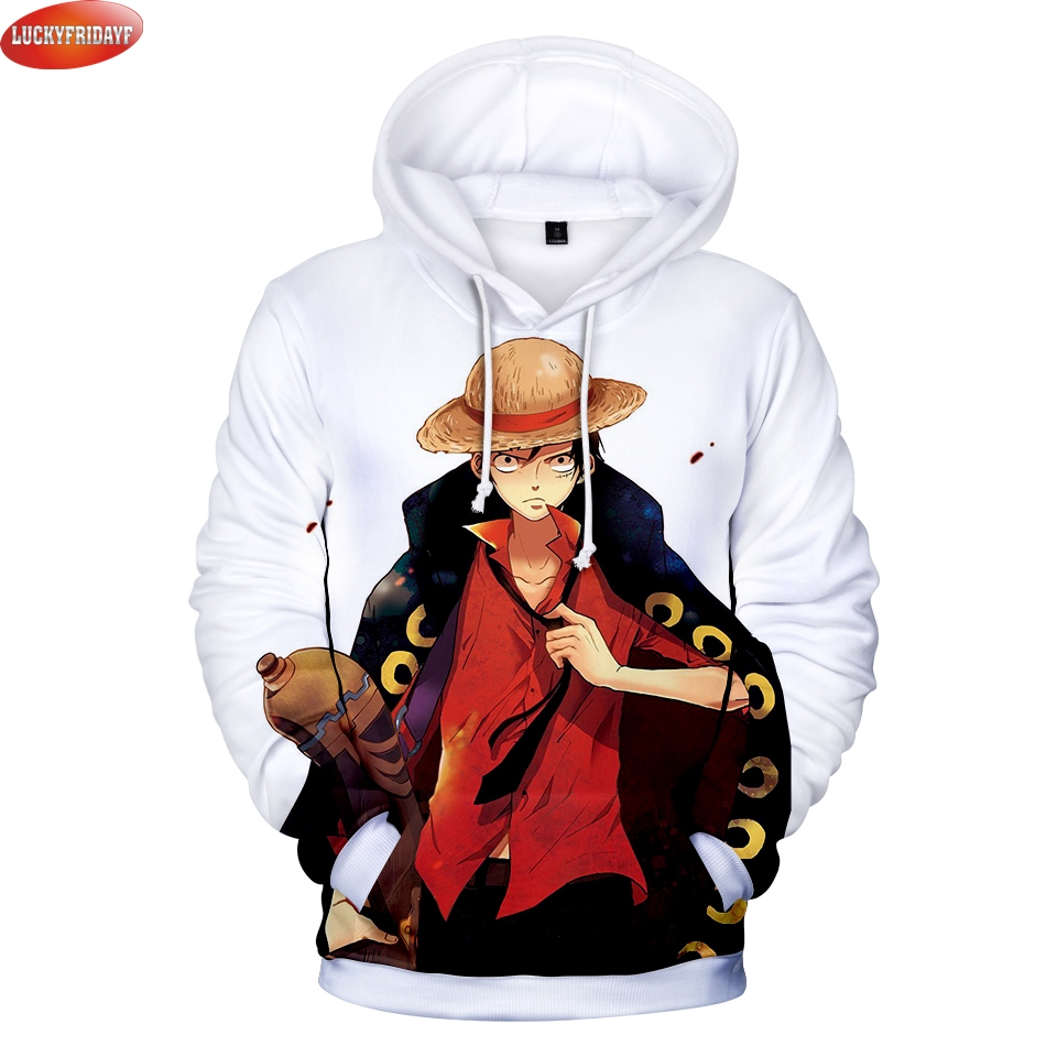 Liumaohua New Hip Hop Fashion Hoodies Anime One Piece Monkey D Luffy 3d Print Mens Womens Sweatshirt Crewneck Hoodie Tops Men's Clothing