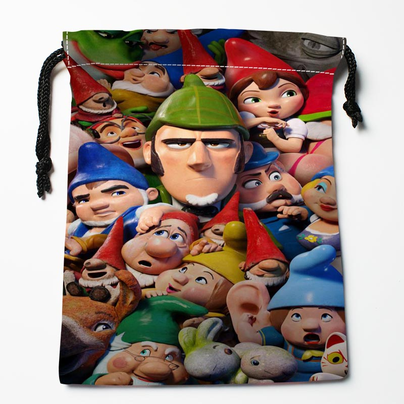 New Custom Sherlock Gnomes Drawstring Bags Storage Printed Gift Bags  Custom Drawstring Bags Compression Type Bags