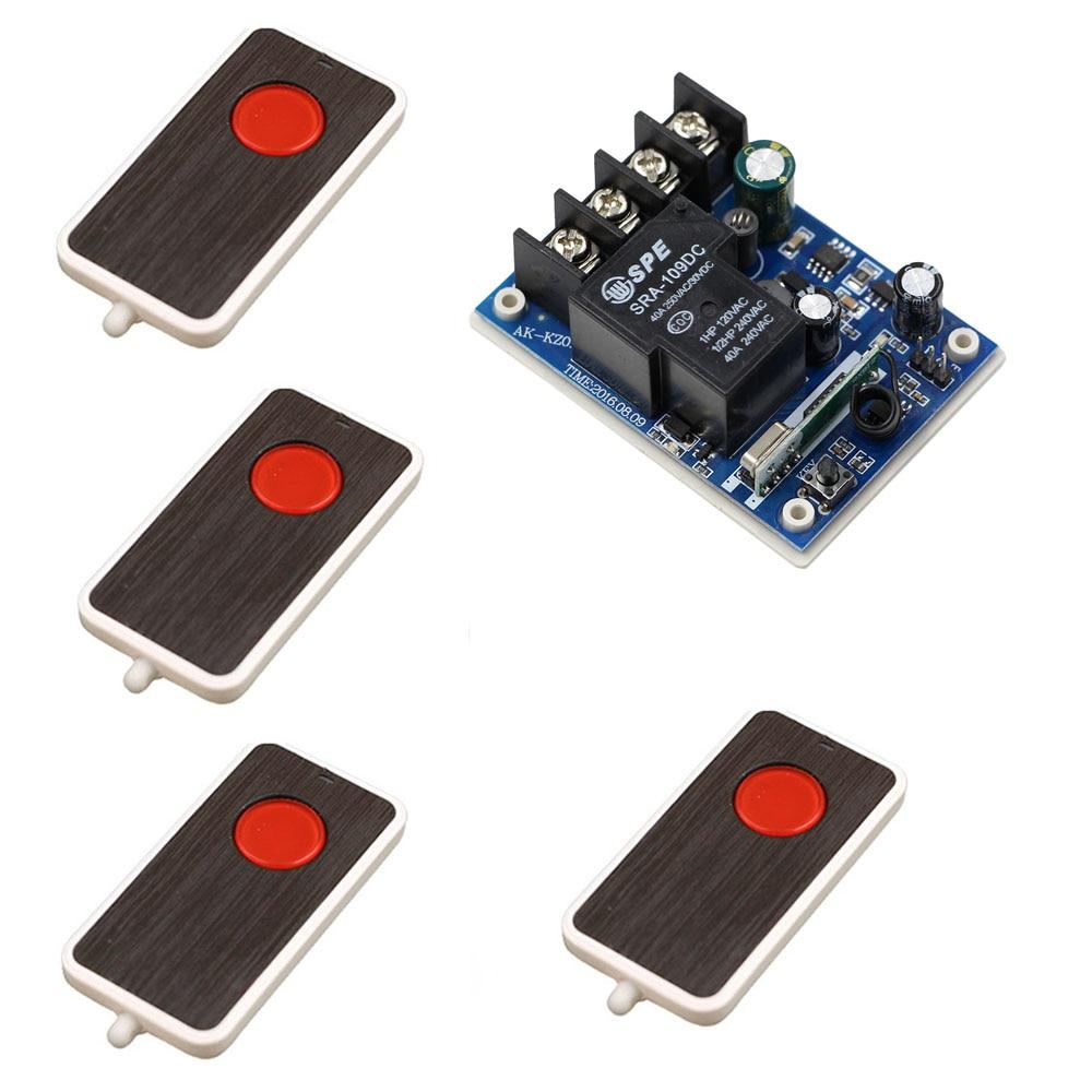 DC 12-48V 12V 24V 36V 48V 40A 1CH RF Wireless Remote Control Switch Relay Receiver Transmitter For LED Lamp Lights Door Motor цена