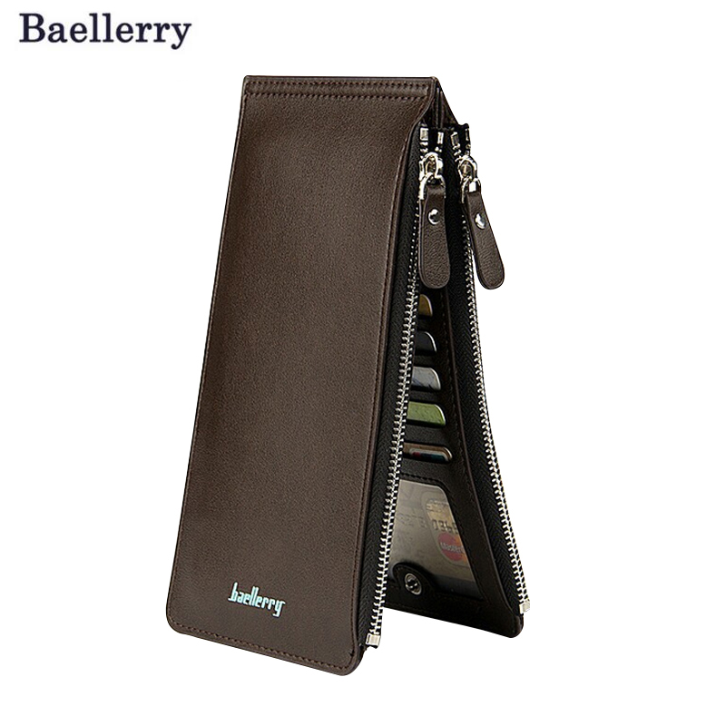 Long Card Holder Men Wallets Large Capacity Clutch Money Purse Wallet Double Zipper Design Mens Clutch Purse Hasp Wallet  wallets men brand baellerry large capacity 16 card position credit card holder long zipper coin purse money bag purse cartera