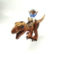 Jurassic Dinosaur world Figures Tyrannosaurs Rex Building Blocks Compatible With DUPLO Dinosaur Toys For Children 40pcs lot large particle jurassic dinosaur world dino valley diy building blocks sets duplo animal model toys for children gifts