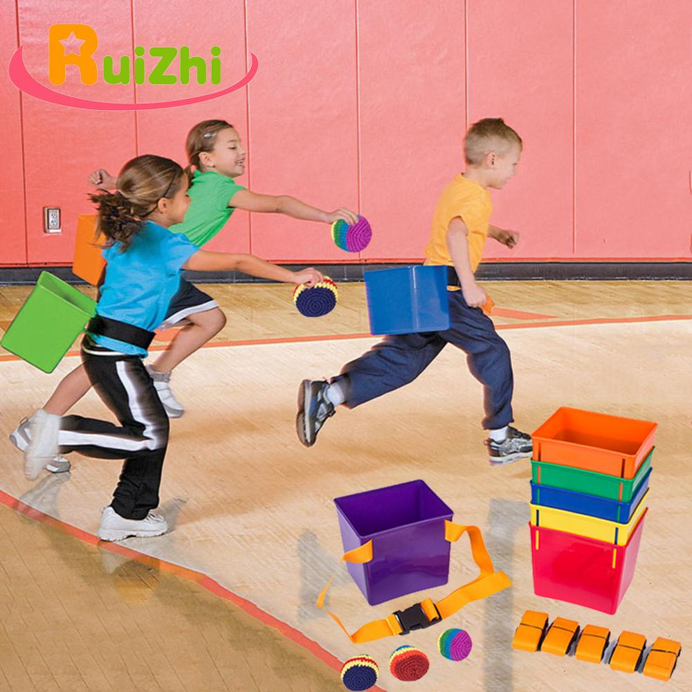 Ruizhi Children Throwing And Catching Balls Games Props Balance Training Outdoor Sport Toys Sandbag Bucket Kids Toys Gift RZ1046