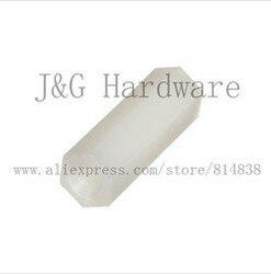 Wkoosa nakrętka sześciokątna/śruba m2  5 PCB dystansowa nylonowa biaława/czarna sześciokątna podstawa słupka żeńska w Nakrętki od Majsterkowanie na