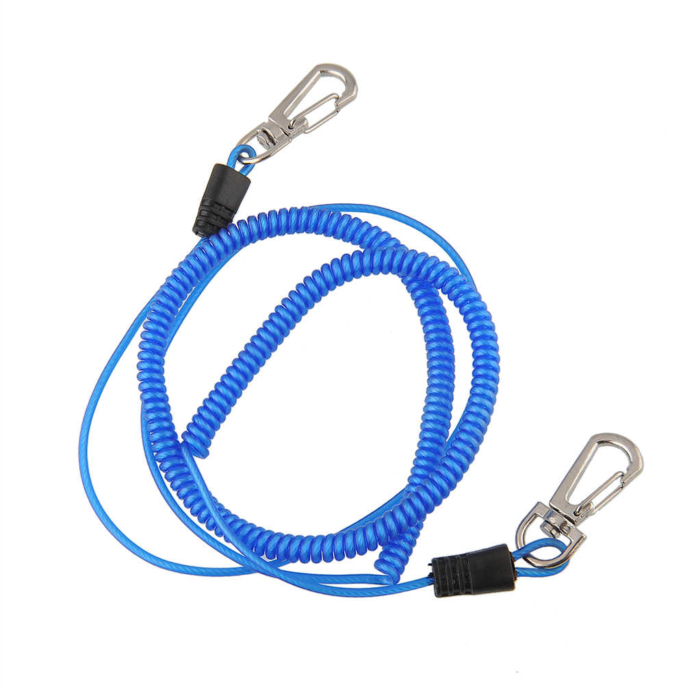 2 Pcs Safety Fly Fishing Lanyard Landing Cord Camping Ropes Secure Coiled Useful