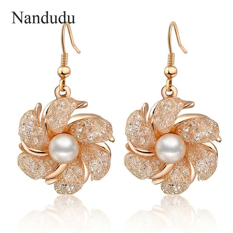 Aliexpress.com : Buy Nandudu Flower Drop Earrings Rose ...