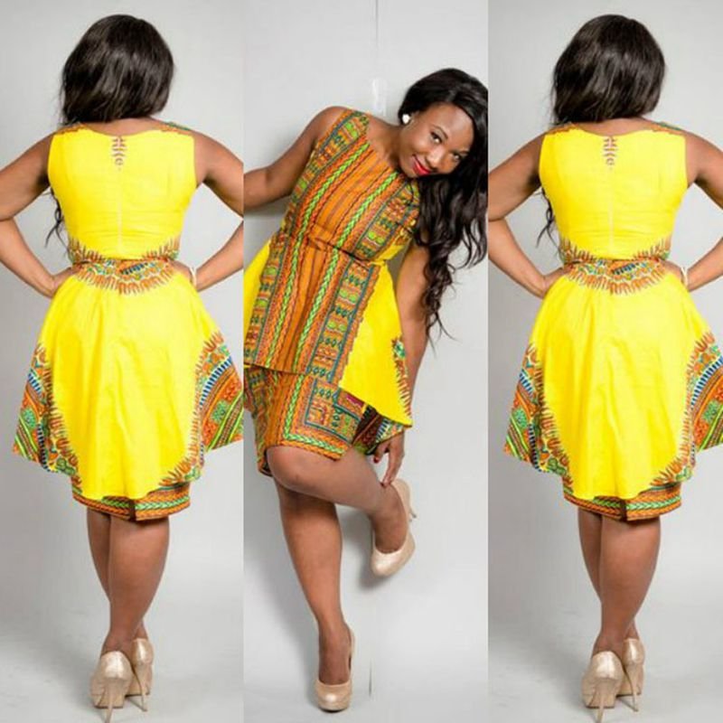 Sexy Yellow African Dresses Promotion-Shop for Promotional Sexy ...