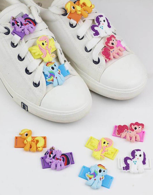 787d01c210c49e Tronzo 6pcs Unicorn Party Shoes Lace Buckle Unicorn Decorations Kids Cute  Rainbow Plastic Shoes Lace Buckle Birthday Supplies