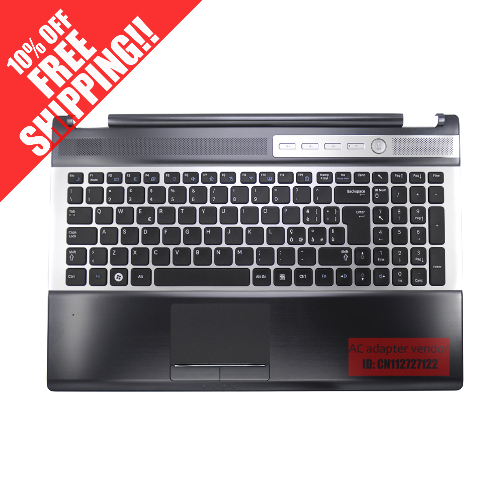 FOR Samsung RF510 RF511 notebook keyboard with c shell touch pad speaker