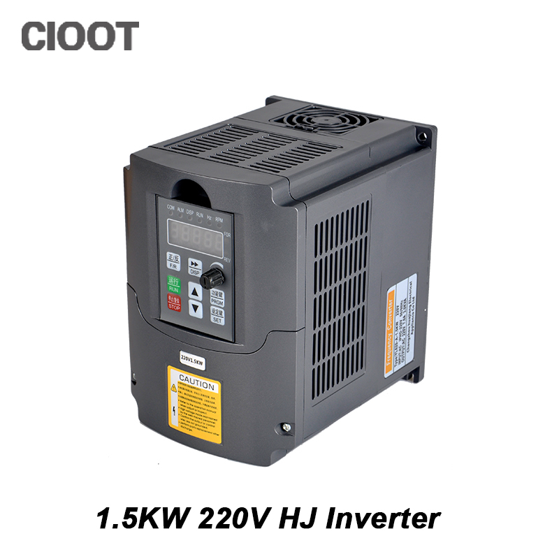 1.5KW 220V Inverter Variable Frequency Drive VFD Inverter Single Phase Input 3 Phase Output CNC Inverter 2 2kw variable frequency drive inverter 220v to 220v power vfd single phase input single phase output electric motor