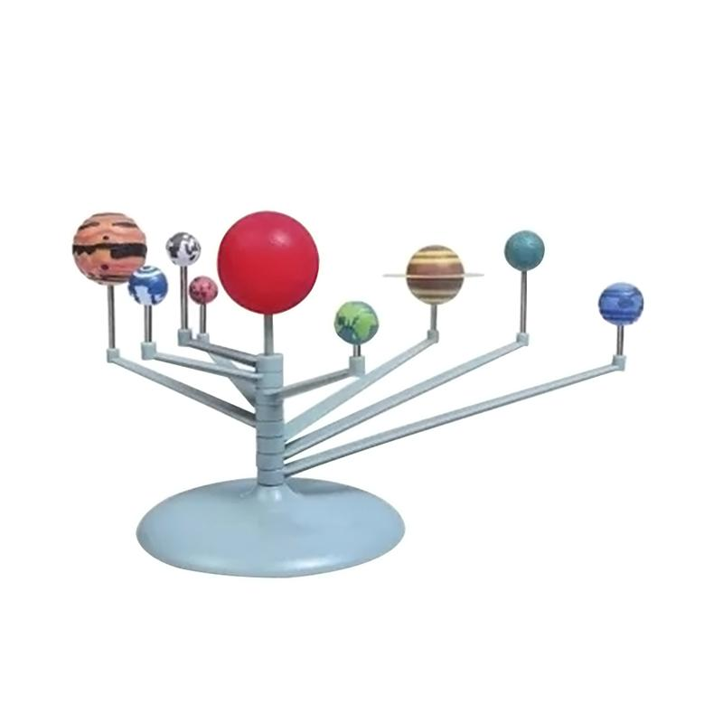 Children DIY Explore Nine Planets Painting Toy Solar System Planetarium Science Fair Project Teaching Toys for Kids Gift