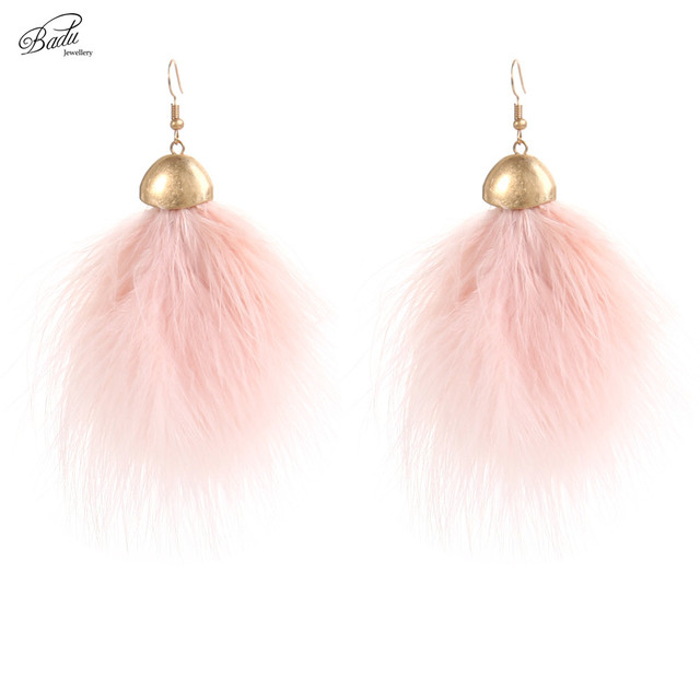 Ostrich Feather Earring Lovely Dangle