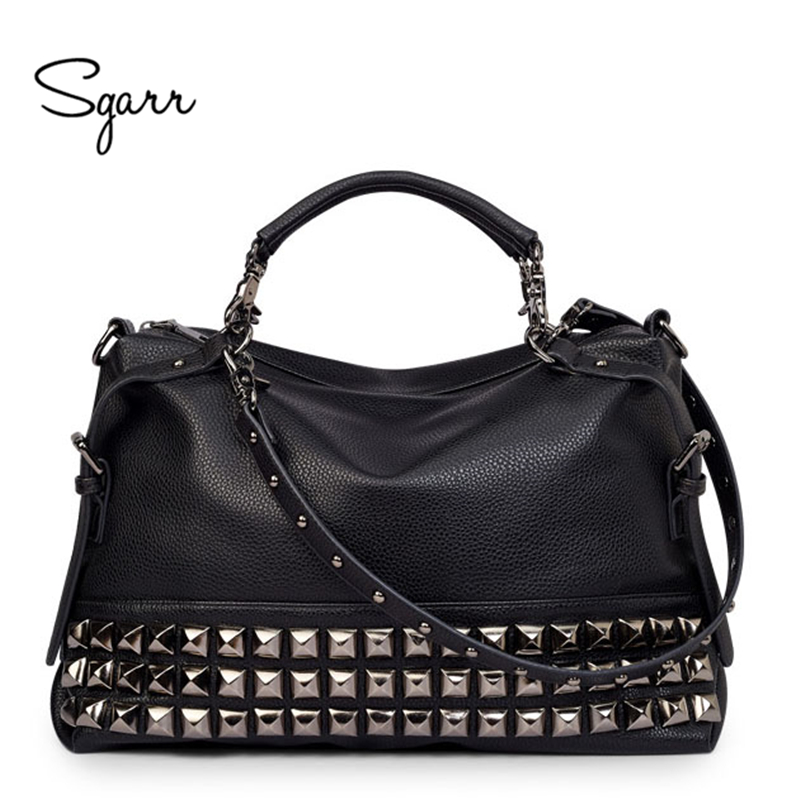 SGARR LUXURY Leather Women Shoulder Bag Brand Designer leather handbags Skin Crossbody bag Famous Big Female Tote Messenger Bags sgarr soft leather handbags women famous brands luxury bag designer quality casual lady messenger bag female large shoulder bags