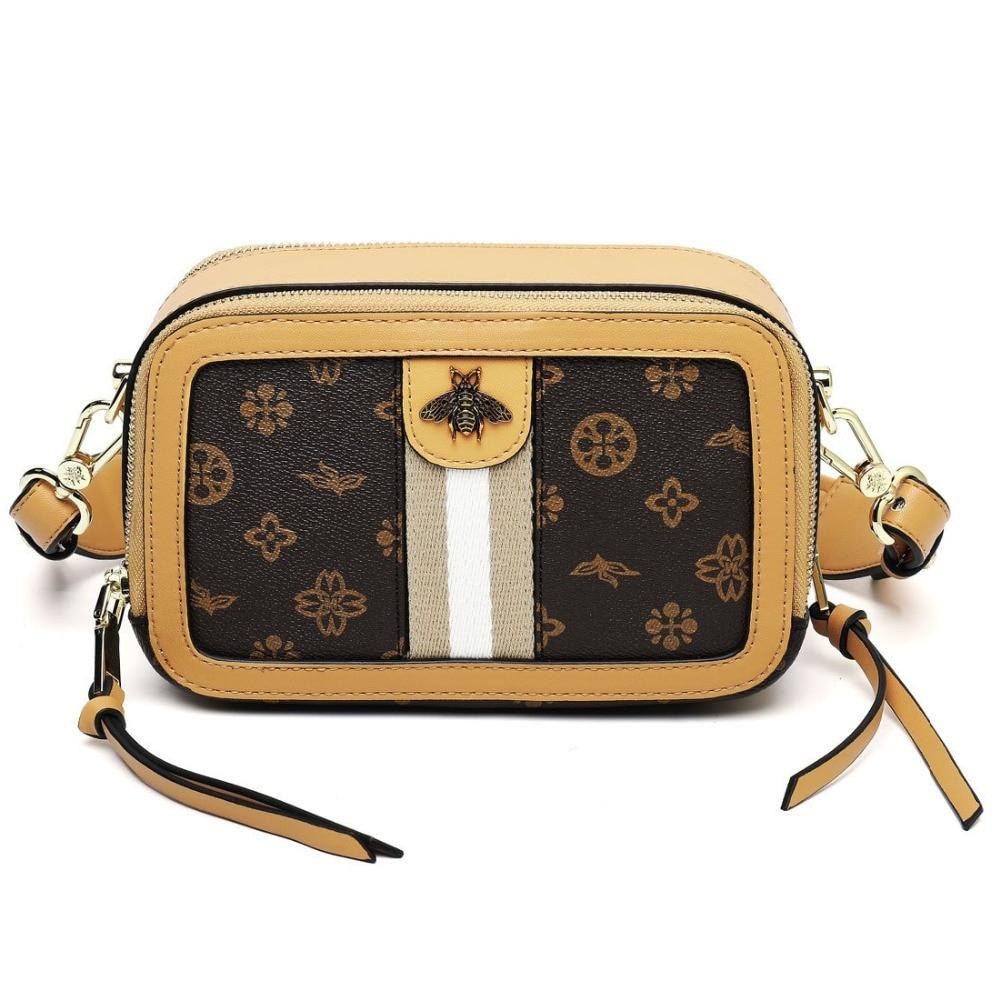 Women Crossbody Bags Luxury PVC Messenger Bag Big Fashion Perfume Bag Square Design College Zipper Flap