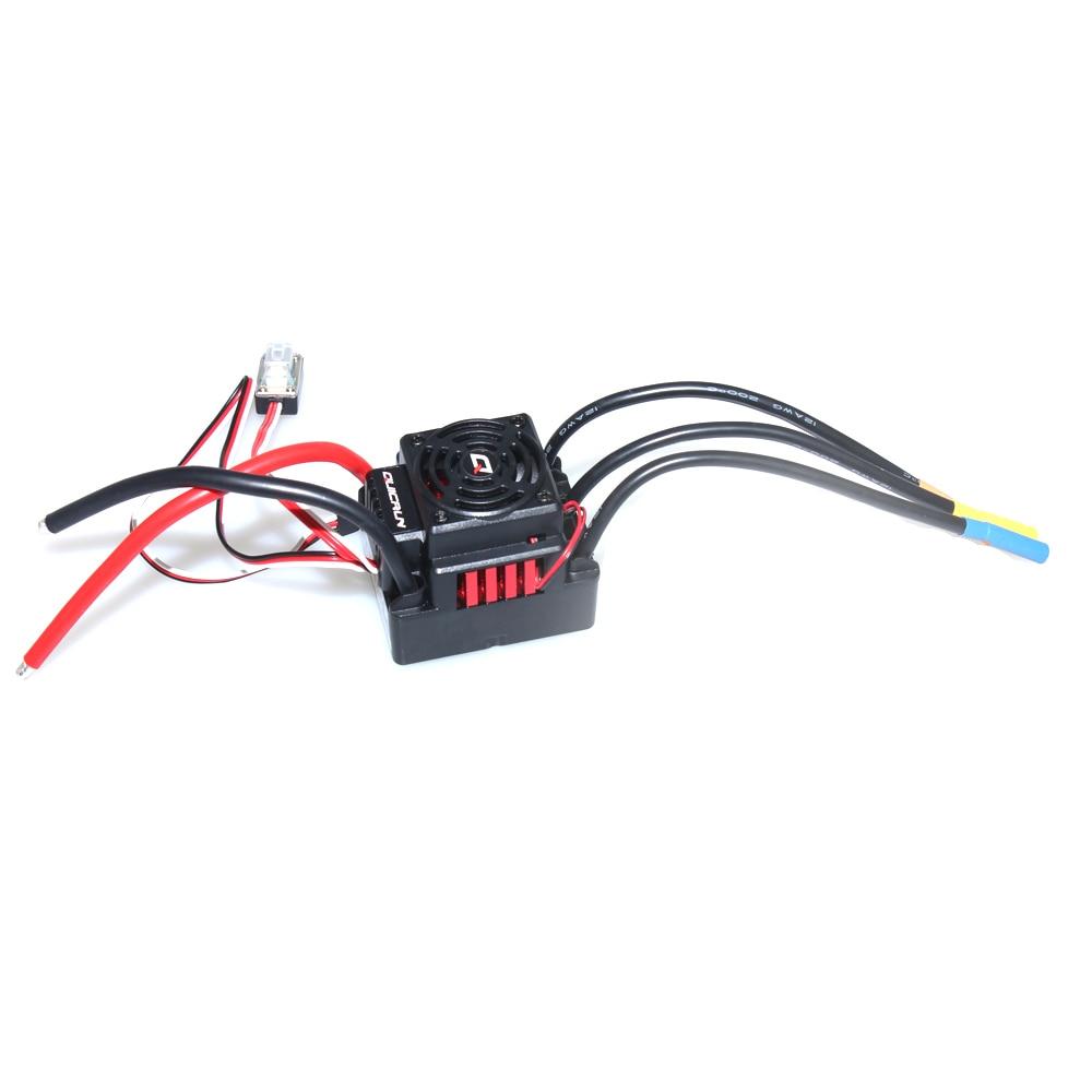 Controlador de velocidad Hobbywing QUICRUN /WP10BL60/WP8BL150 controlador de velocidad 30A/60A/150A 2-s 6 s Lipo BEC sin escobillas ESC para coche RC F17871/3