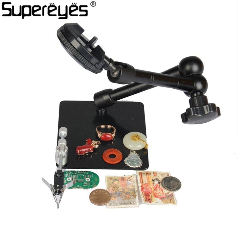 ФОТО Supereyes Magic Microscope Stand Z004ZB Jewelry Universal Adjustable Rotating Stand for Handheld USB Microscope Endoscope