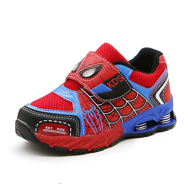 NEW 2018 Spring Children Shoes Breathable Boys Spider Shoes Top Quality Fashion Sports Casual Kids Sneakers Size 26-37