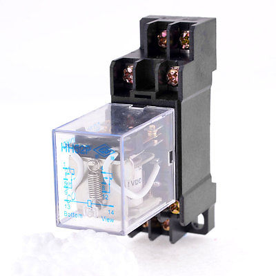 цена на DC24V/DC12V/AC110V/AC220V  Coil 8 Pin General Purpose Relay DPDT HH52P w PYF08A Socket
