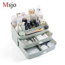 Msjo Laci Jenis Makeup Organizer Berus Pemegang Barang Kemas Penyusun Kes Kapasiti Besar Nail Polish Makeup Cosmetic Storage Box